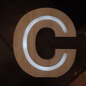 LED Lighting Decor - Letter C